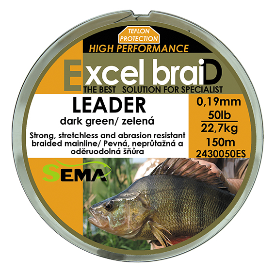 Leader 25lbs 150m zelená