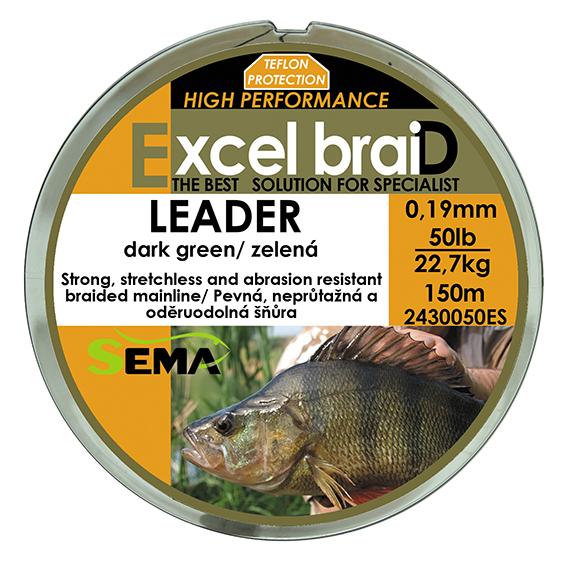 Leader 50lbs 150m zelená