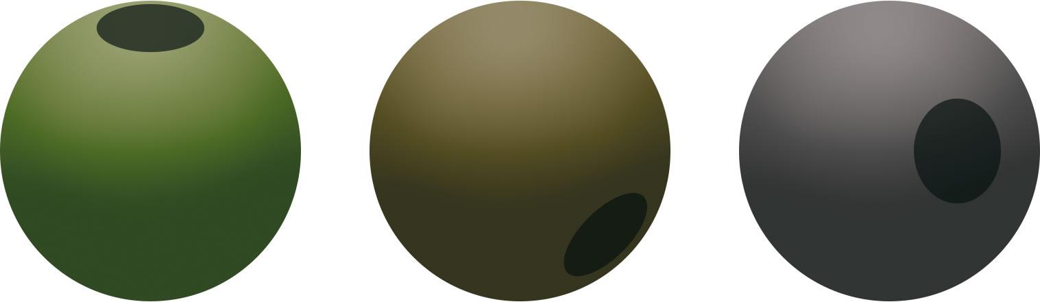 Gumový korálek průměr 6mm (30ks)