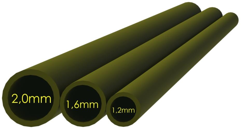Smršťovací hadička zelená 2,0mm (10x5cm)