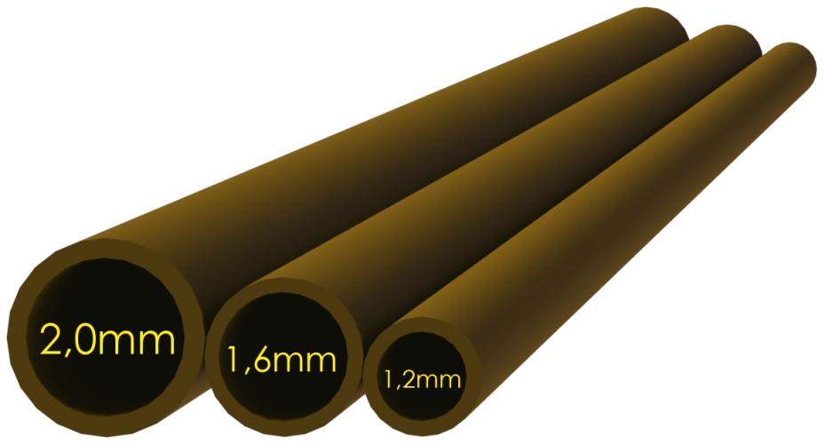 Smršťovací hadička hnědá 2,0mm (10x5cm)