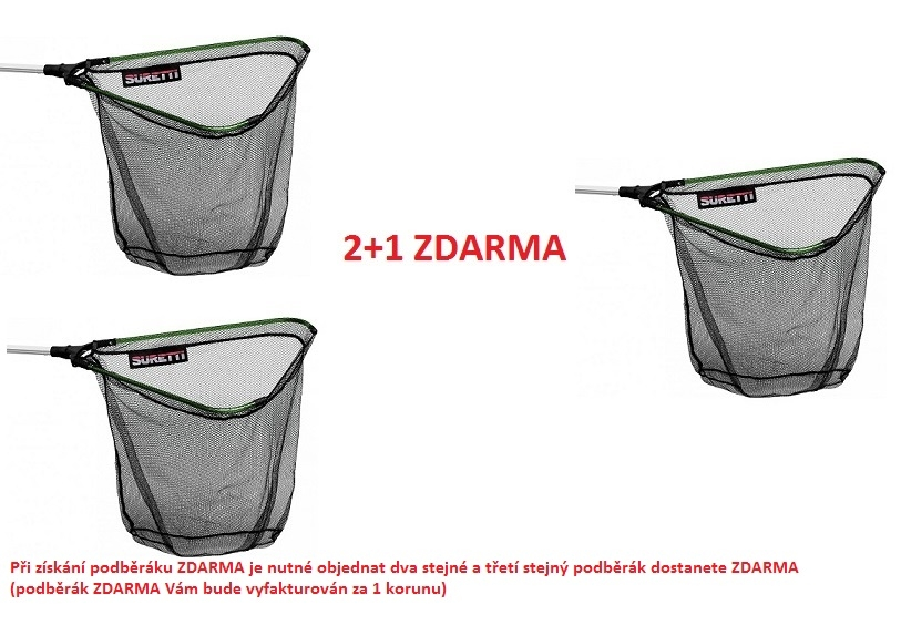 Podběrák skládací ABS 1,8m/3d AKCE 2+1 ZDARMA
