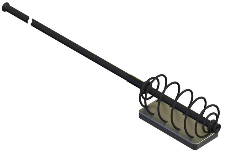 S exentrickou zátěží a s vedením 30cm 35mm 80g