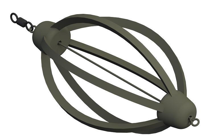 Krmítko žebrované s očkem a obratlíkem LF 30g