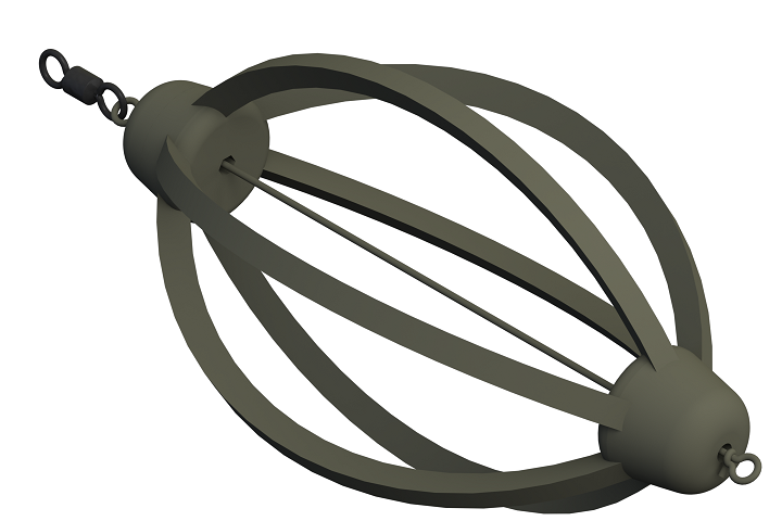 Krmítko žebrované s očkem a obratlíkem LF 45g