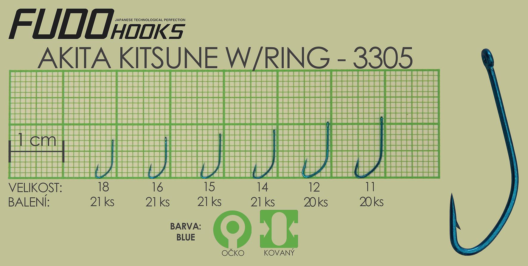 Fudo Akita Kitsune Ringed 16 (bal.21ks)