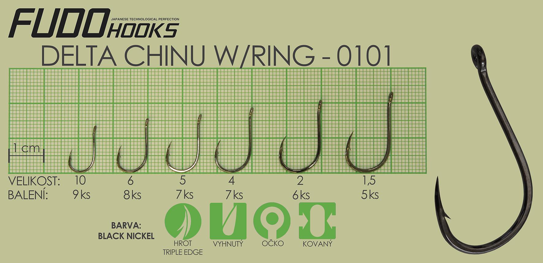Fudo Delta Chinu Ringed 1,5 (bal.5ks)