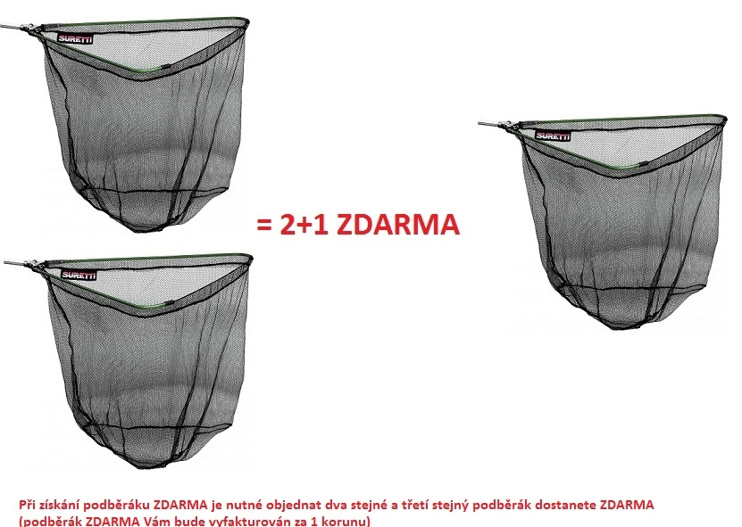 Podběrák skládací AL 2,5m/3d AKCE 2+1 ZDARMA