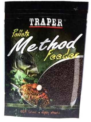 Pelety Method Feeder Halibut černý 4mm 500g