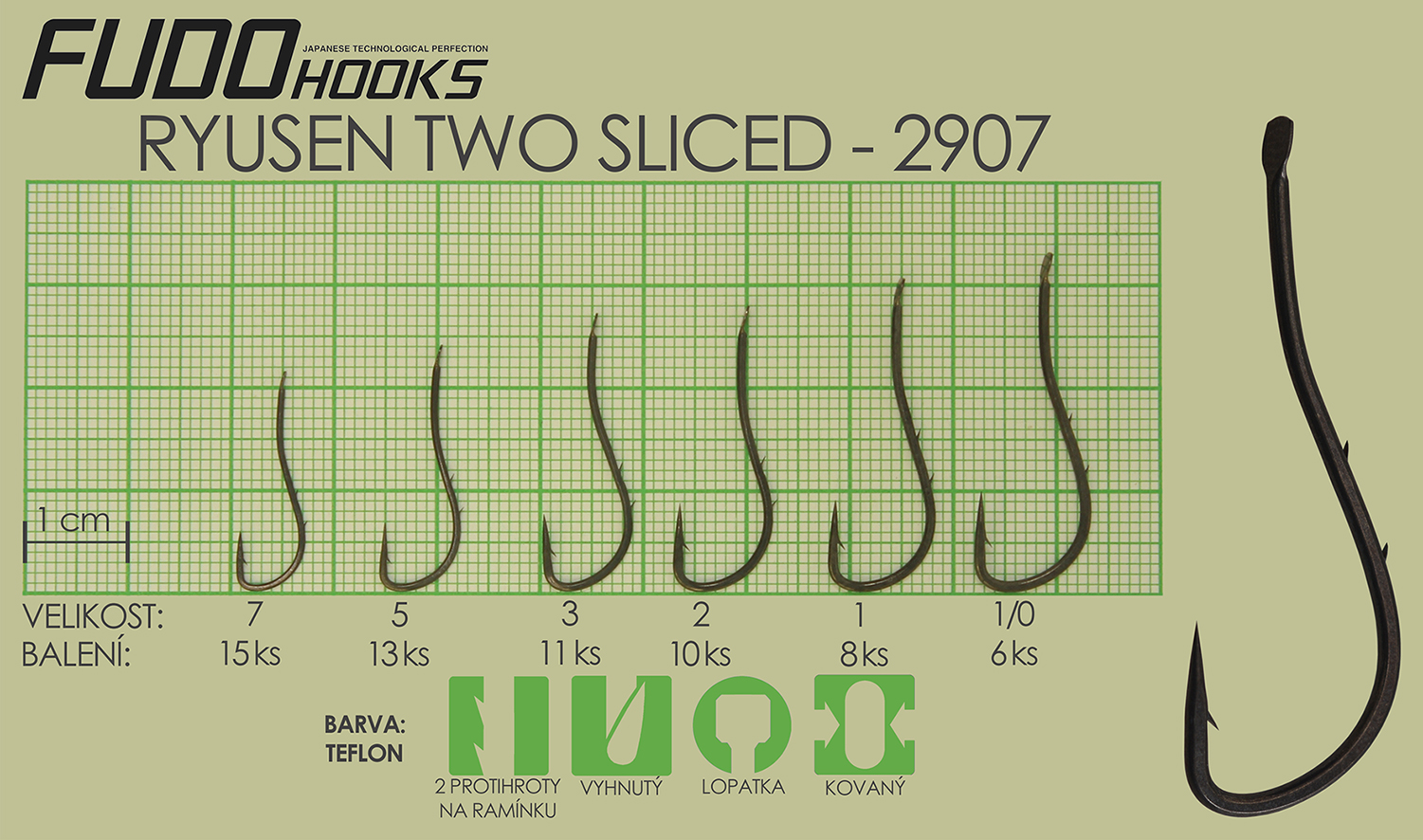 Fudo Ryusen Two Sliced 1/0 (bal.6ks)