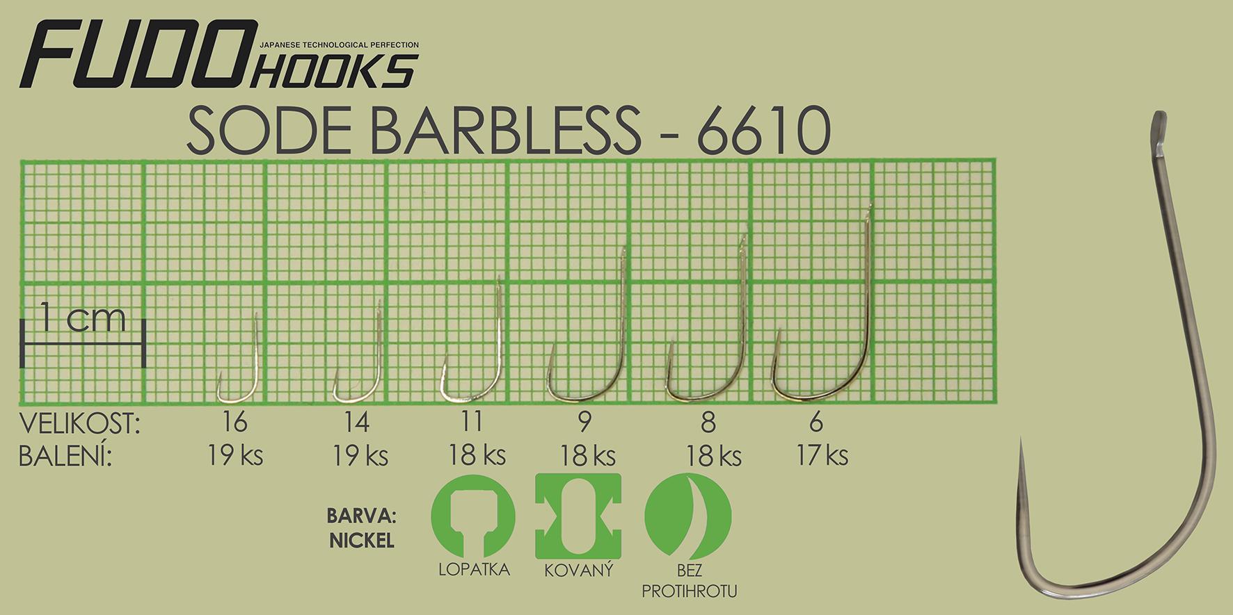 Fudo Sode Barbless 8 (bal.18ks)